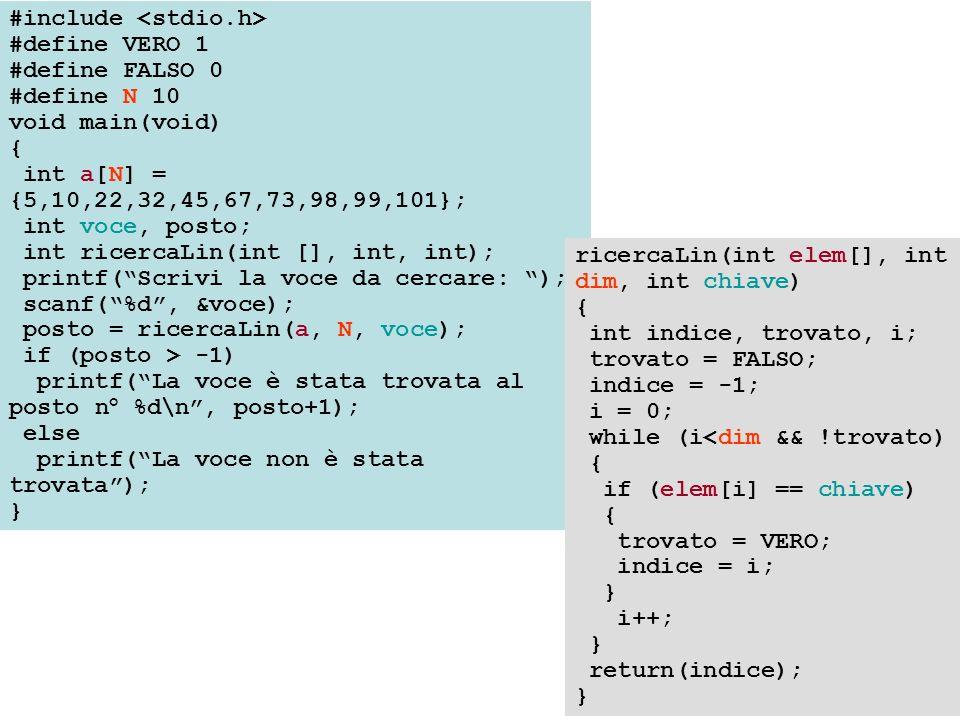 int ord_bolle(int a[], int numel) { int i, j, temp, passi; i = 0; do { passi = 0; for (j=1; j<numel-i; j++) { if (a[j] < a[j-1]) { temp = a[j]; a[j] = a[j-1]; a[j-1] = temp; passi++; } i++; } while (i < (numel-1) && passi != 0); return (i); }