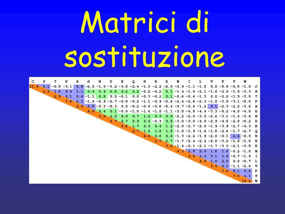 Matrici di sostituzione