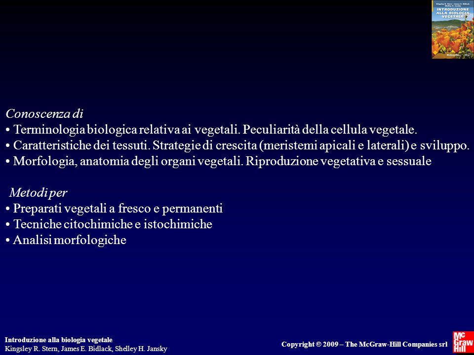 Introduzione alla biologia vegetale Kingsley R. Stern, James E. Bidlack, Shelley H. Jansky Copyright © 2009 – The McGraw-Hill Companies srl Conoscenza
