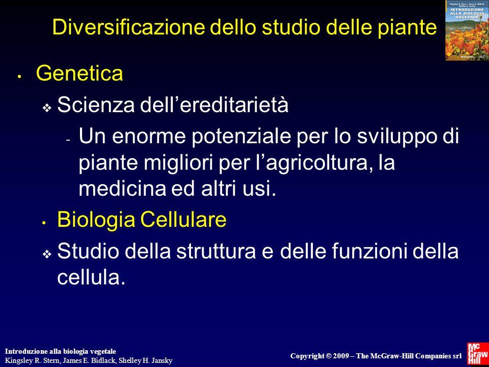Introduzione alla biologia vegetale Kingsley R. Stern, James E. Bidlack, Shelley H. Jansky Copyright © 2009 – The McGraw-Hill Companies srl Diversific