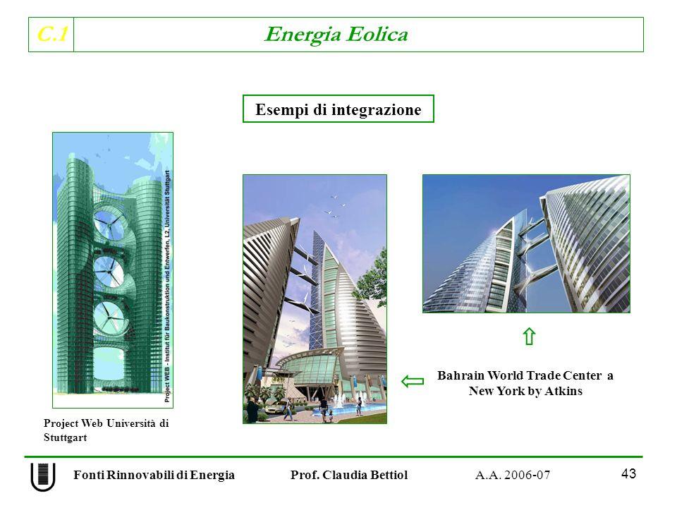 C.1 Energia Eolica 43 Fonti Rinnovabili di Energia Prof.