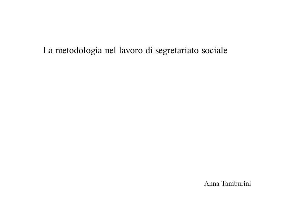La metodologia nel lavoro di segretariato sociale Anna Tamburini