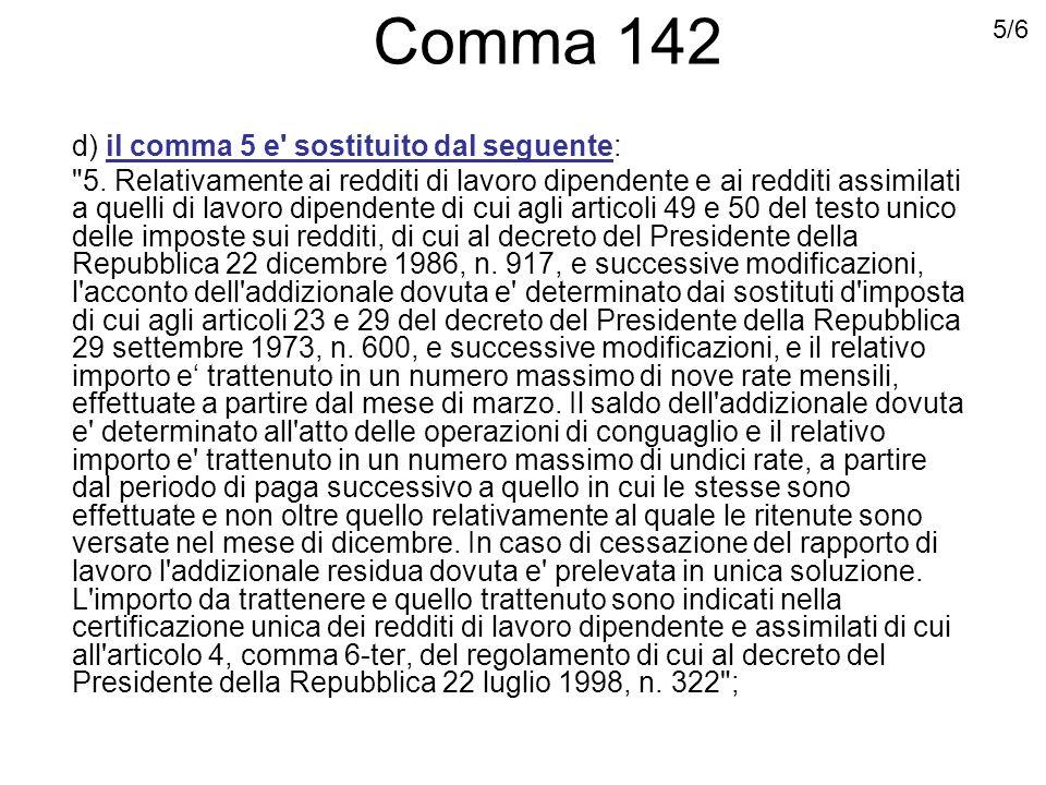 Comma 143 143.