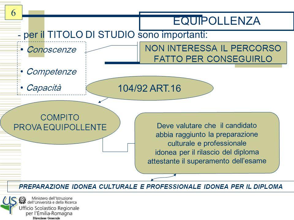 TIPI DI PROVE EQUIPOLLENTI -MEZZI DIVERSI (pc, dettatura,etc….) - MODALITA DIVERSE (es.