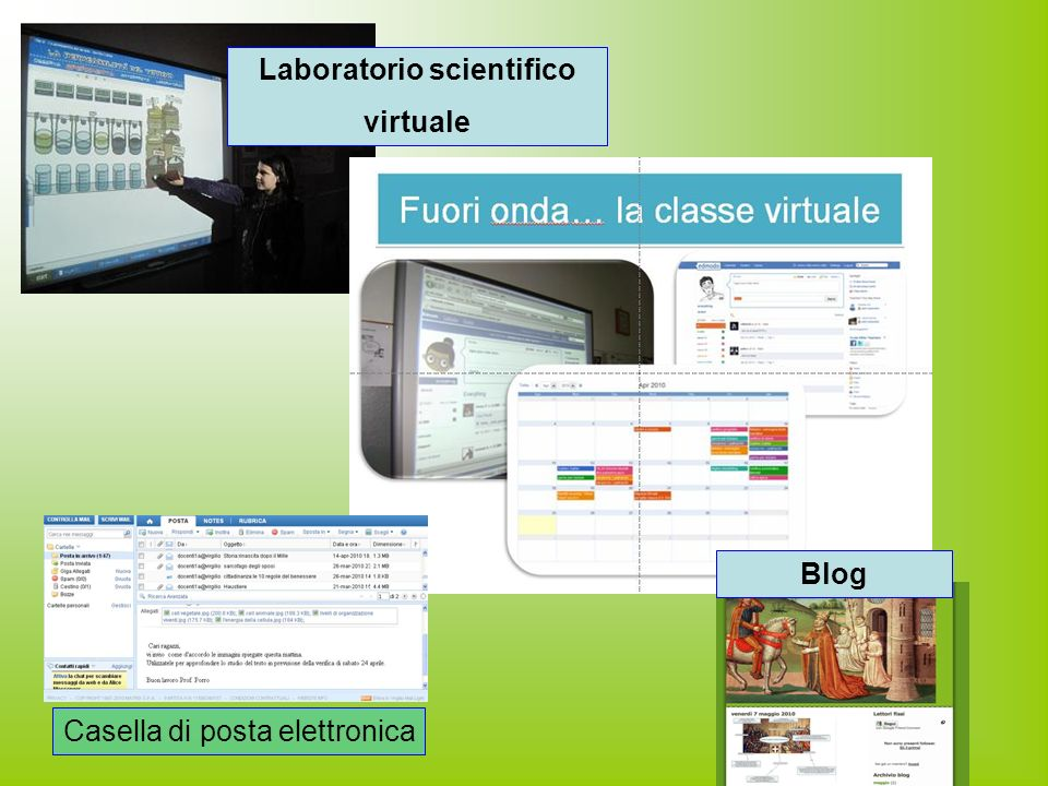 Laboratorio scientifico virtuale Casella di posta elettronica Blog