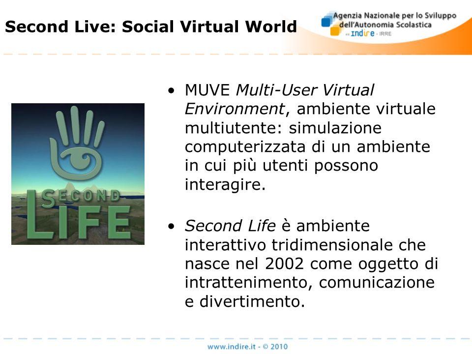 MUVE Multi-User Virtual Environment, ambiente virtuale multiutente: simulazione computerizzata di un ambiente in cui più utenti possono interagire.