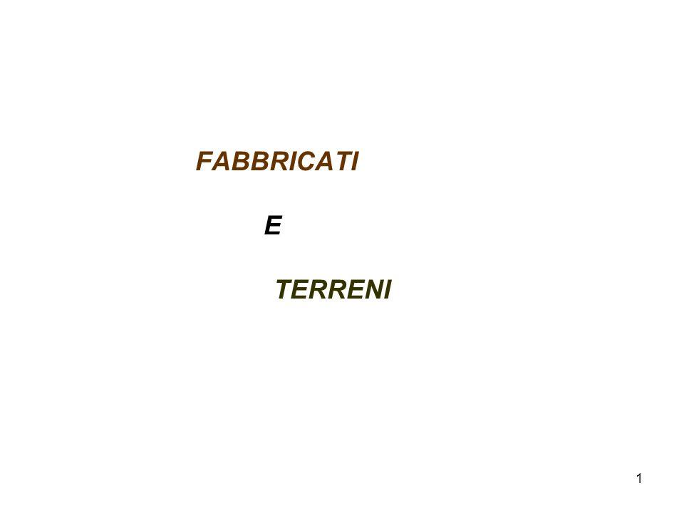 1 FABBRICATI E TERRENI