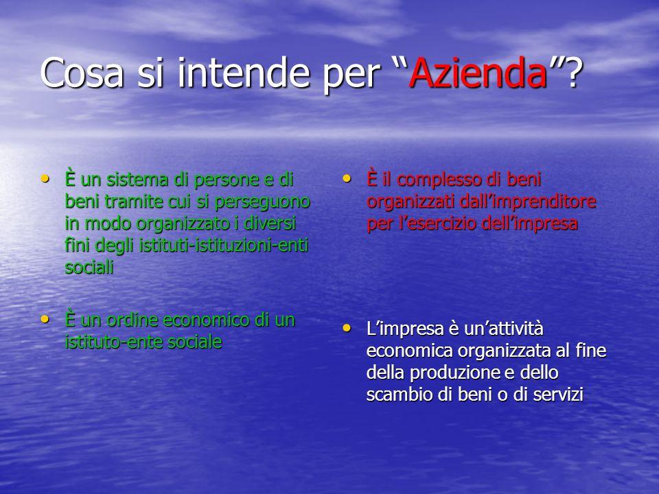 Cosa si intende per Azienda.