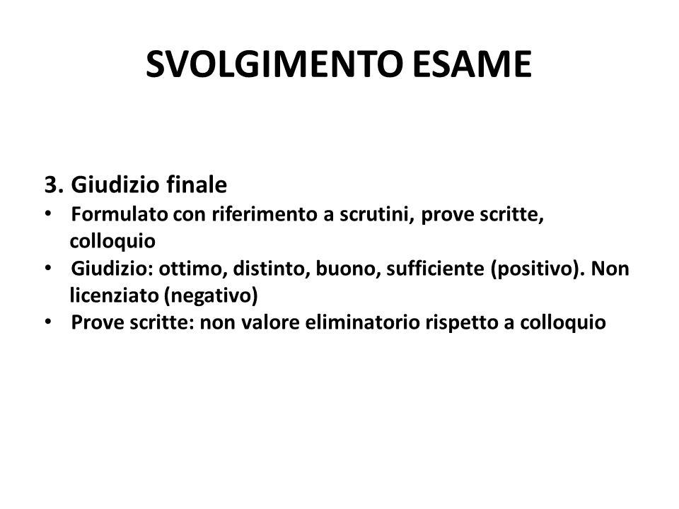 SVOLGIMENTO ESAME 3.