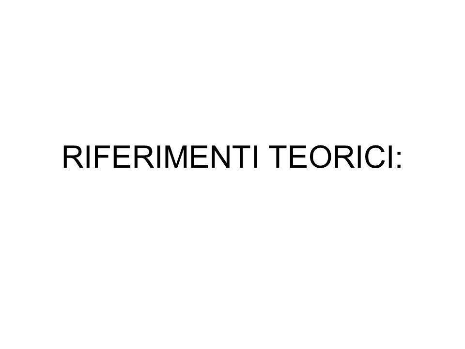 RIFERIMENTI TEORICI: