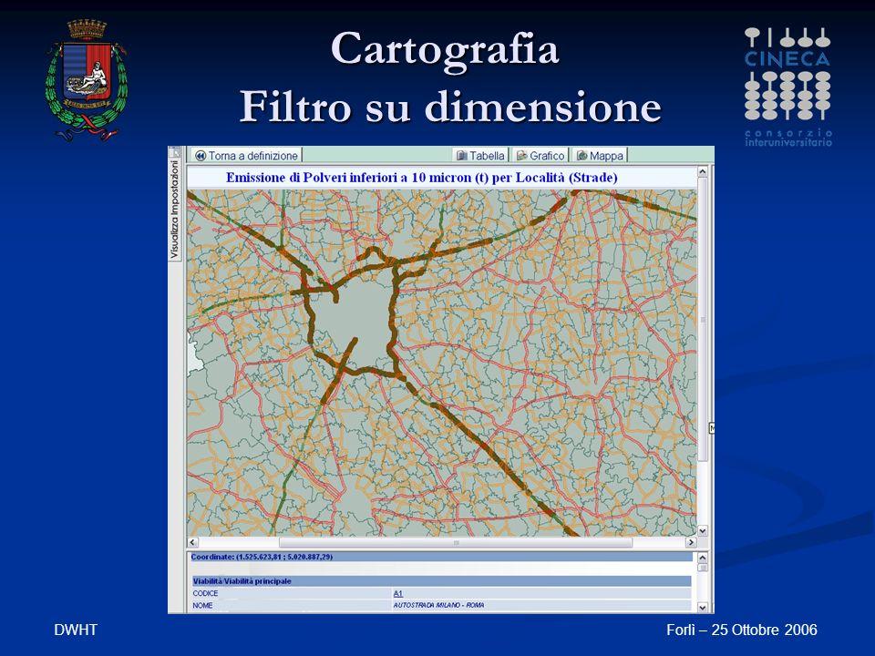 Cartografia Filtro su dimensione