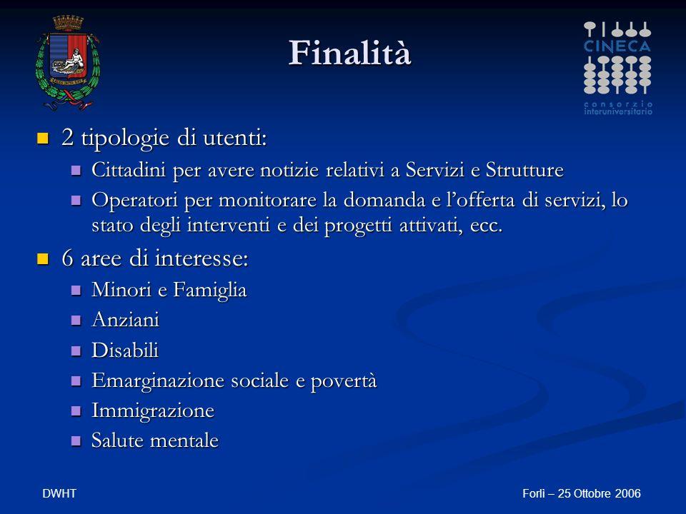 DWHTForlì – 25 Ottobre 2006 Carta tematica per Comuni