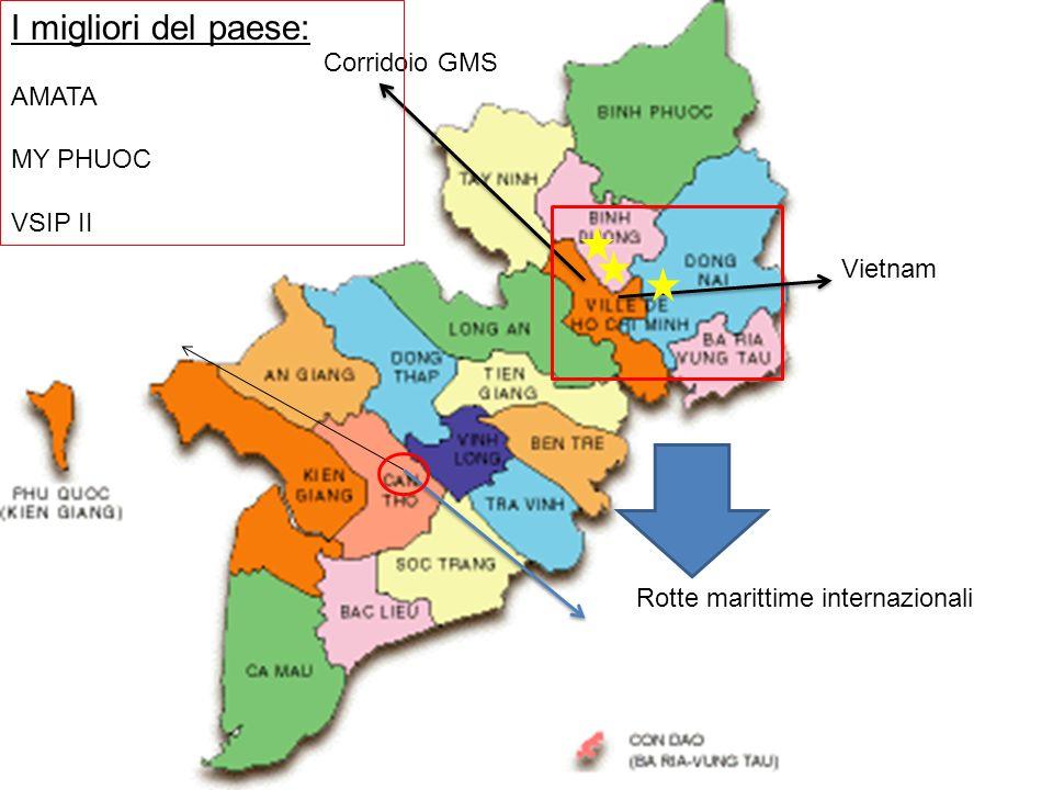 Vietnam Corridoio GMS Rotte marittime internazionali I migliori del paese: AMATA MY PHUOC VSIP II