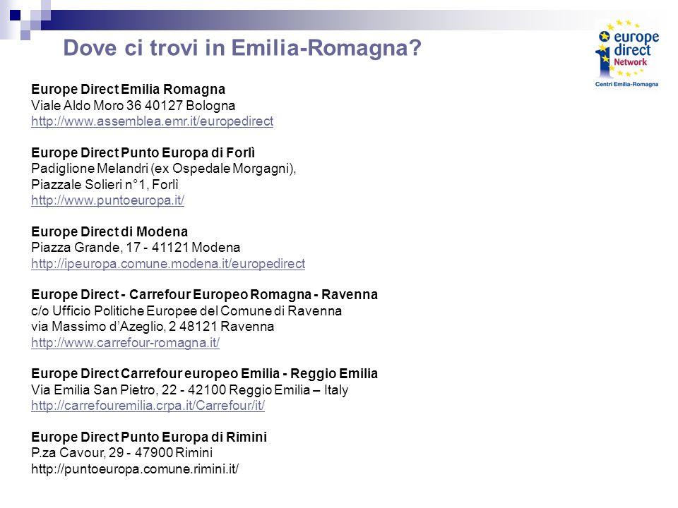 Dove ci trovi in Emilia-Romagna.