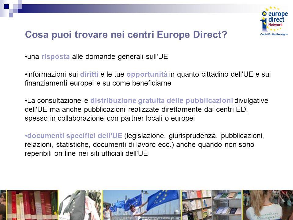 Cosa puoi trovare nei centri Europe Direct.