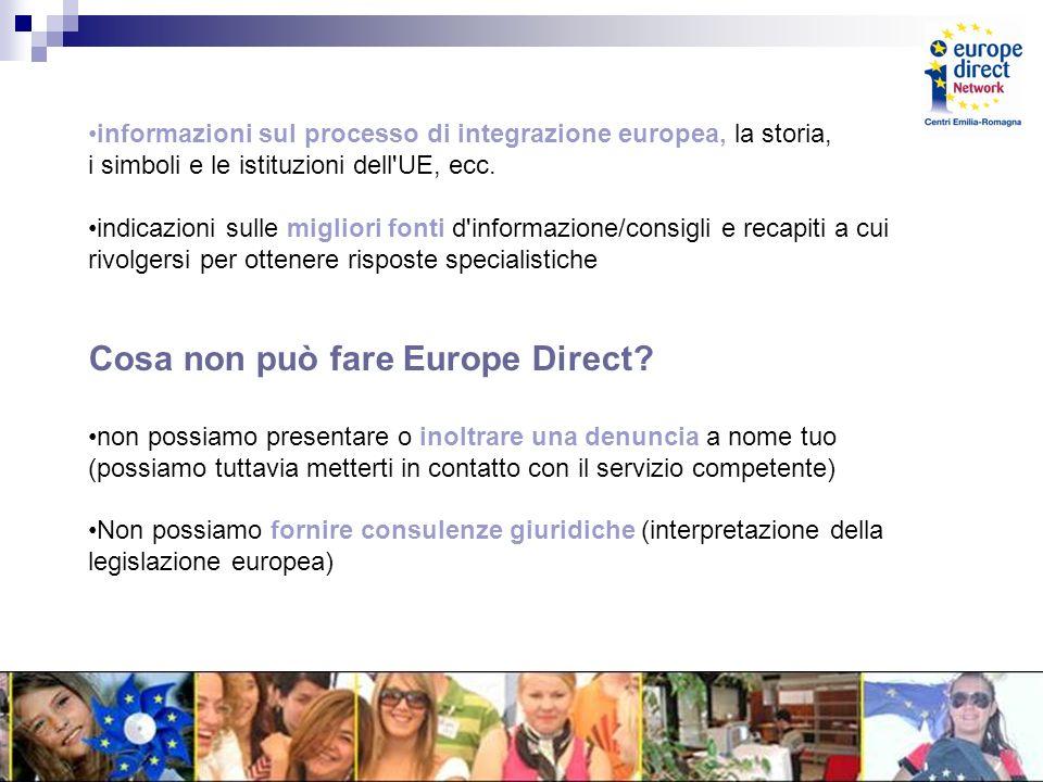 informazioni sul processo di integrazione europea, la storia, i simboli e le istituzioni dell UE, ecc.