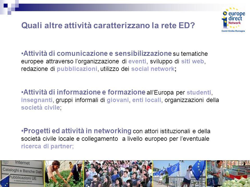 Quali altre attività caratterizzano la rete ED.