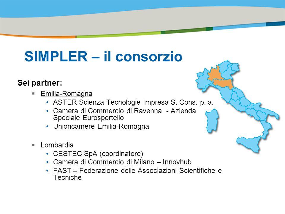 Title of the presentation | Date |# SIMPLER – il consorzio Sei partner: Emilia-Romagna ASTER Scienza Tecnologie Impresa S.