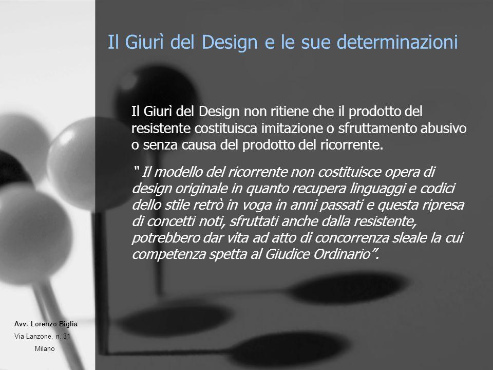 Il Giurì del Design non ritiene che il prodotto del resistente costituisca imitazione o sfruttamento abusivo o senza causa del prodotto del ricorrente