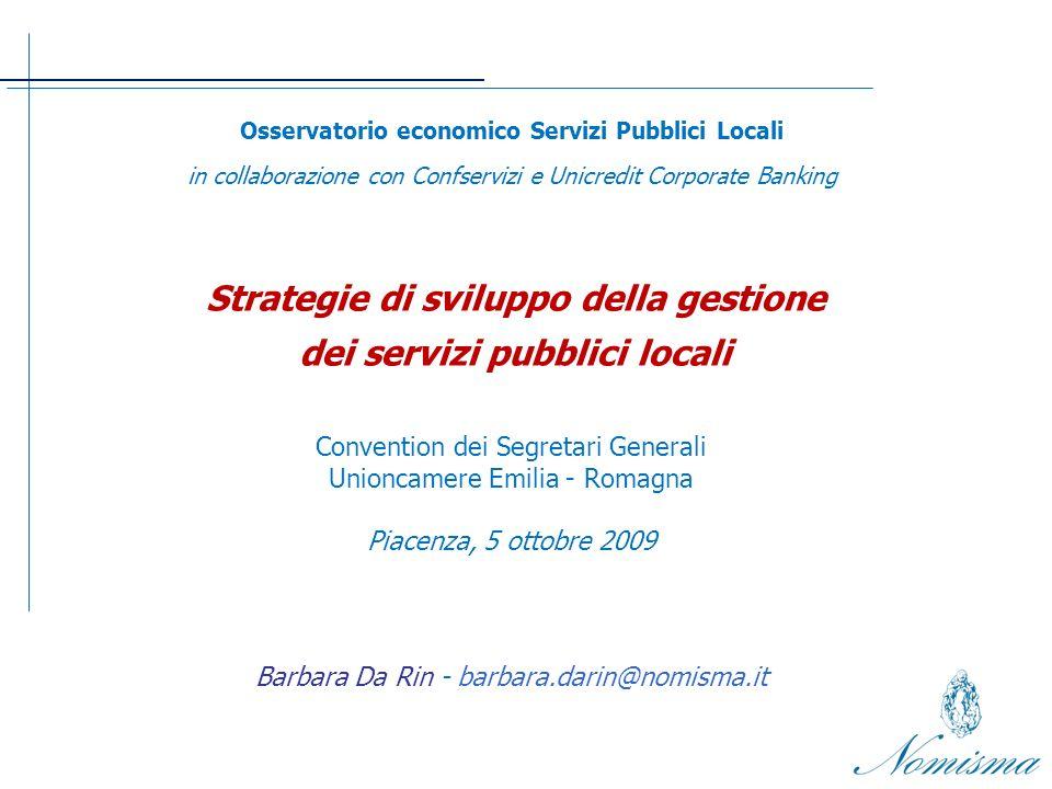 3.INDAGINE DIRETTA SU UN CAMPIONE DI LOCAL UTILITIES DEL CENTRO NORD ITALIA 1.