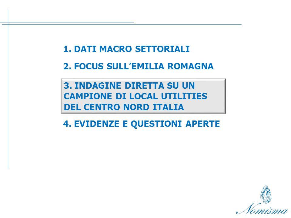 3. INDAGINE DIRETTA SU UN CAMPIONE DI LOCAL UTILITIES DEL CENTRO NORD ITALIA 1.