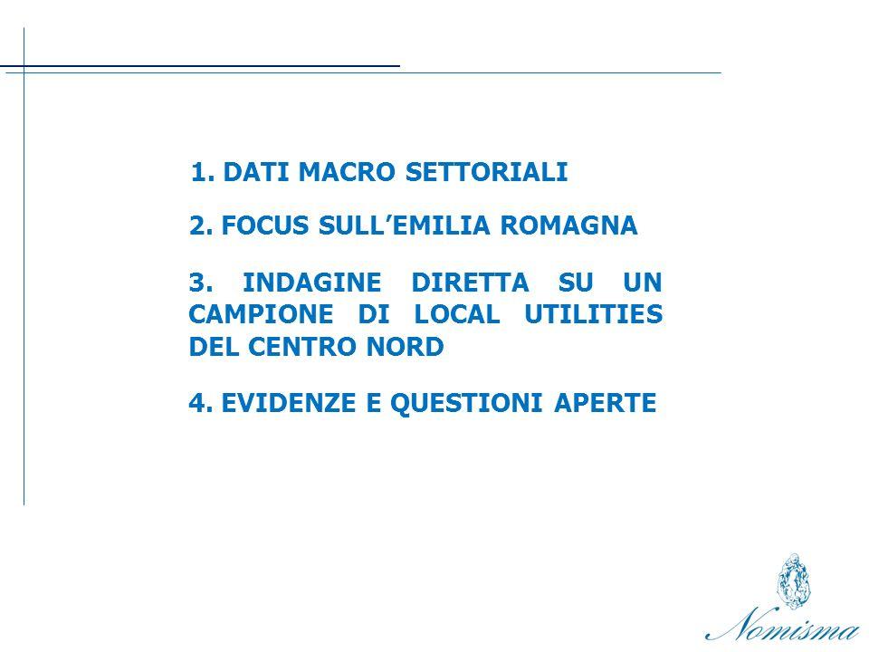 1.DATI MACRO SETTORIALI 2. FOCUS SULLEMILIA ROMAGNA 3.