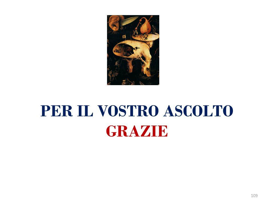 PER IL VOSTRO ASCOLTO GRAZIE 109