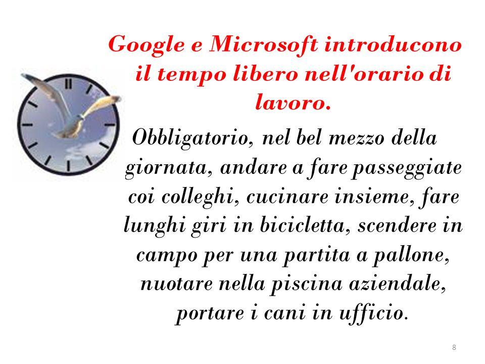 Google e Microsoft introducono il tempo libero nell'orario di lavoro. Obbligatorio, nel bel mezzo della giornata, andare a fare passeggiate coi colleg