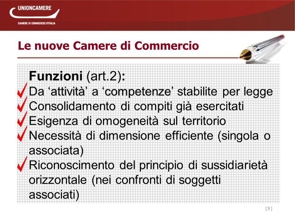 [ 30 ] Le nuove Camere di Commercio Il Segretario Generale (art.