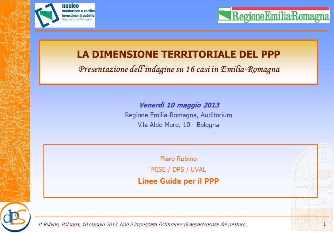 Agenda 1.Il contesto 2. La «Guida agli SdF per il PPP» 3.