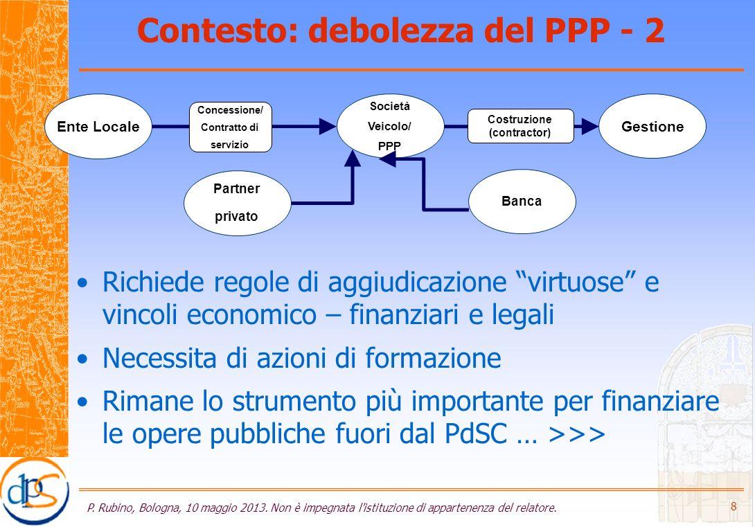 Lanalisi economica (*) P.Rubino, Bologna, 10 maggio 2013.