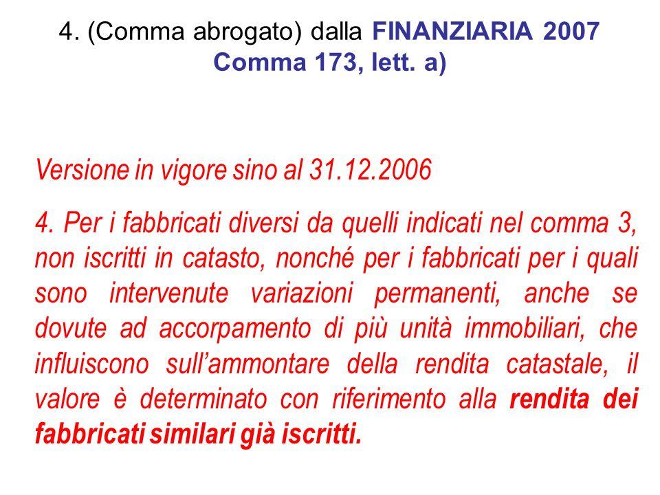 Versione in vigore sino al 31.12.2006 4.