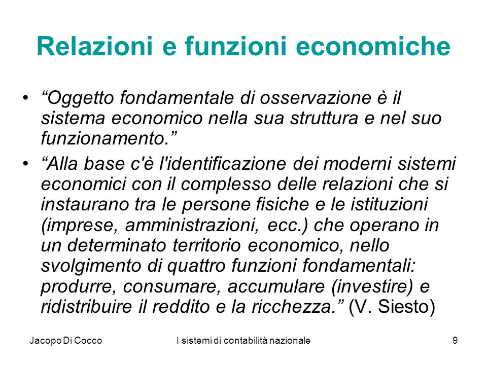 Jacopo Di CoccoI sistemi di contabilità nazionale70 STAN Industry includes annual measures of output, labour input, investment and international trade from 1970 onward for OECD countries.