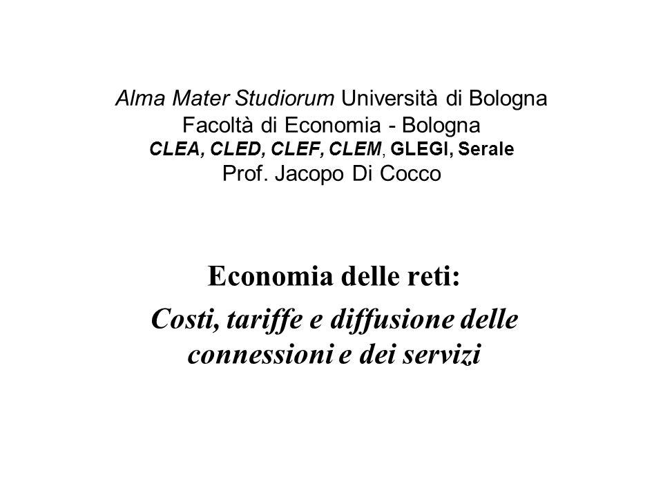 Alma Mater Studiorum Università di Bologna Facoltà di Economia - Bologna CLEA, CLED, CLEF, CLEM, GLEGI, Serale Prof. Jacopo Di Cocco Economia delle re