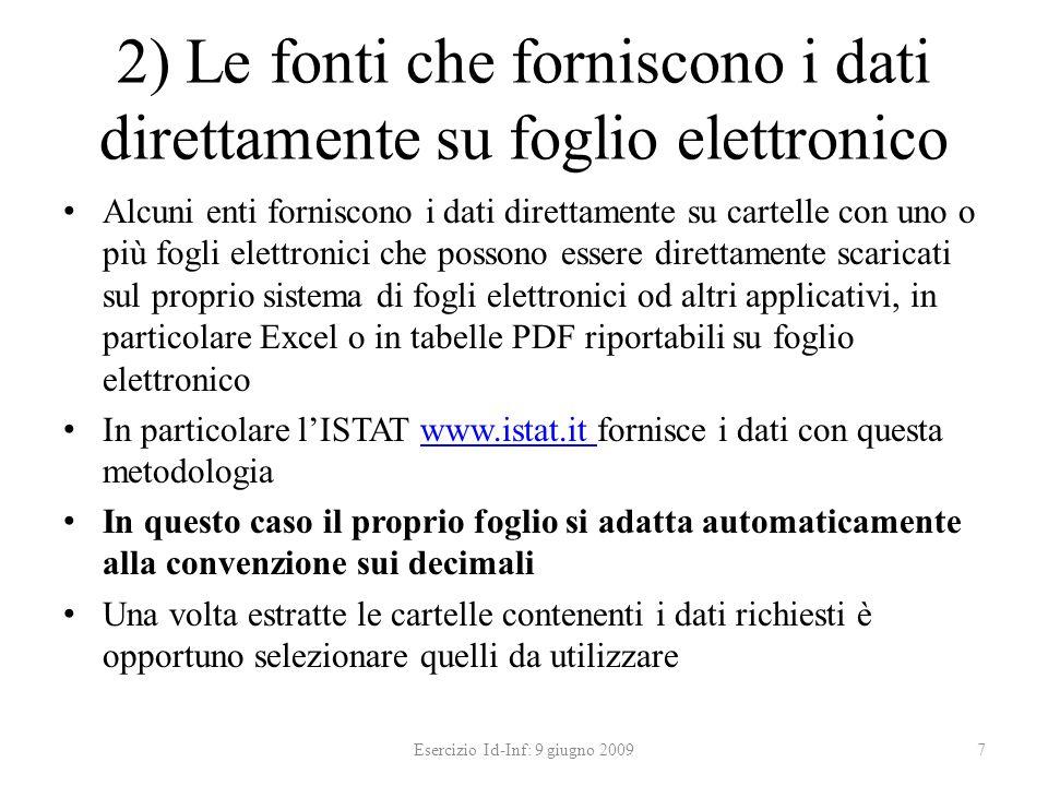 3a) Accesso ai dati ISTAT Nel quesito formulato non sono richiesti dati italiani.