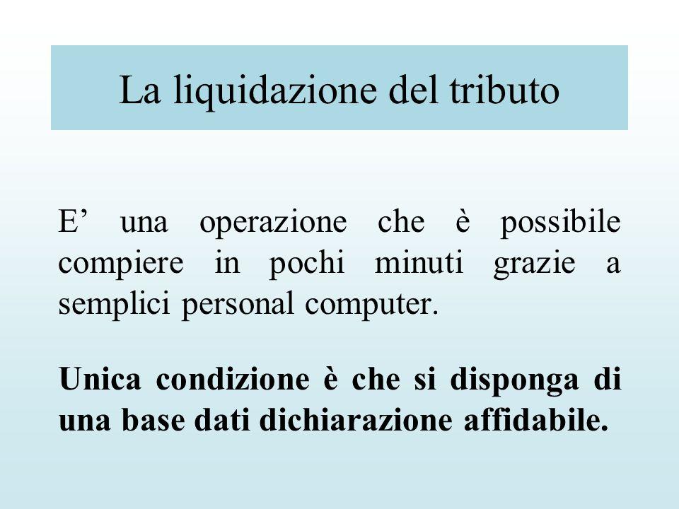 La liquidazione del tributo E una operazione che è possibile compiere in pochi minuti grazie a semplici personal computer. Unica condizione è che si d
