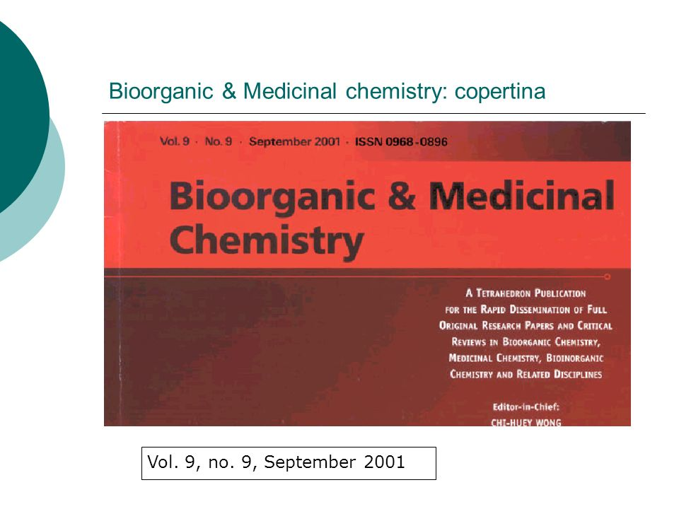 Bioorganic & Medicinal chemistry: copertina Vol. 9, no. 9, September 2001