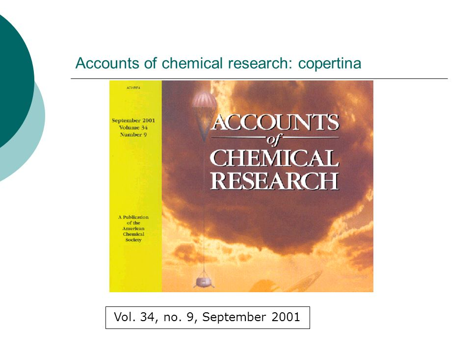 Accounts of chemical research: copertina Vol. 34, no. 9, September 2001