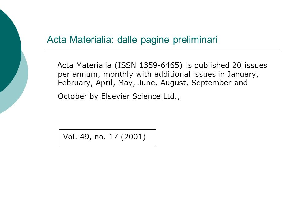 Inorganic chemistry: dalle pagine preliminari Inorganic chemistry (ISSN 0020-1669) is published biweekly by the American Chemical Society… [etc.] Quindicinale Claims will be honored only if submitted within 90 days of the issue date (subscribers in North America) or within 180 days of the issue date (all other subscribers).