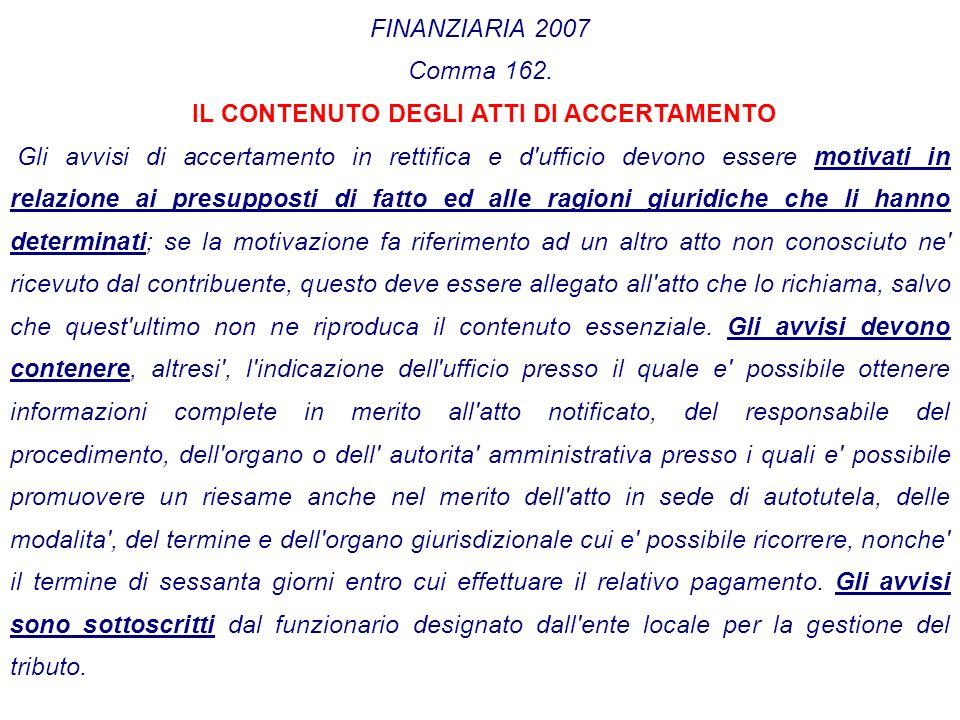 FINANZIARIA 2007 Comma 162.