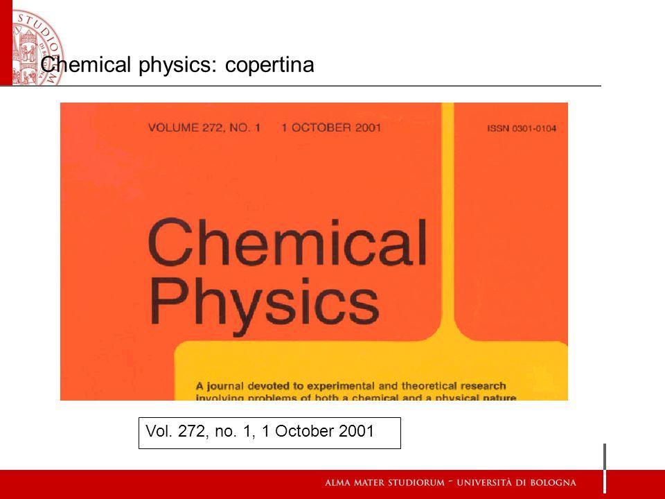 Chemical physics: copertina Vol. 272, no. 1, 1 October 2001