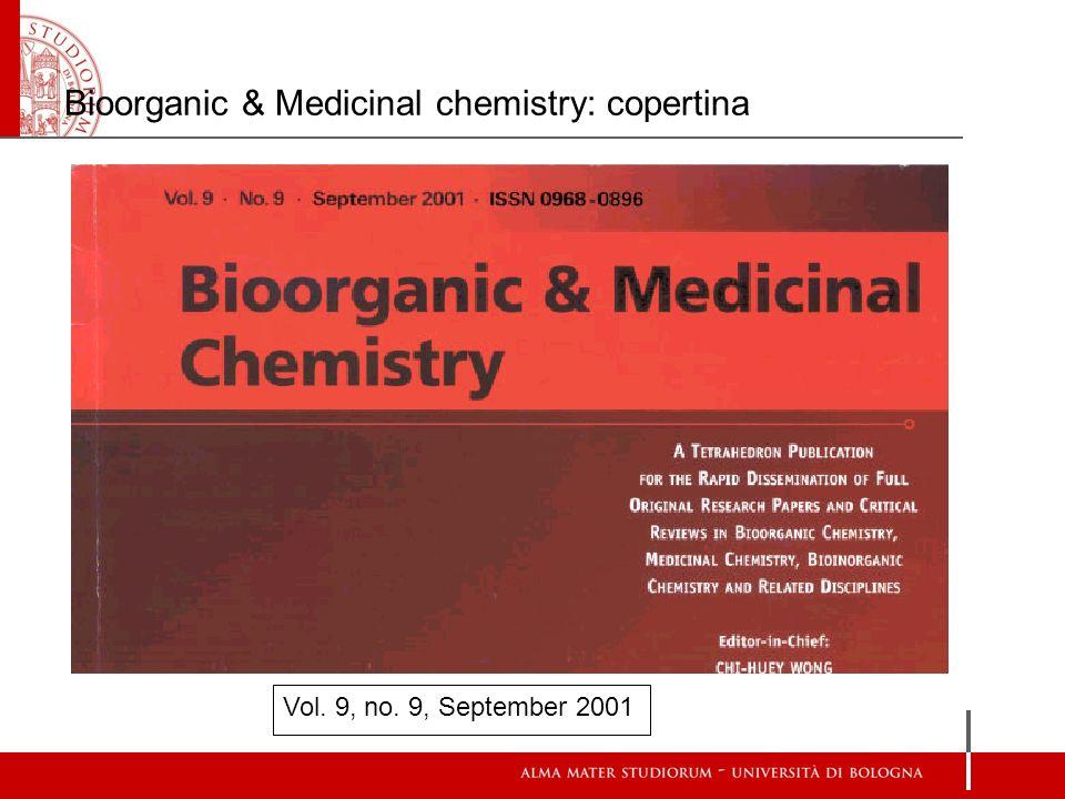 Bioorganic & Medicinal chemistry: copertina Vol. 9, no. 9, September 2001