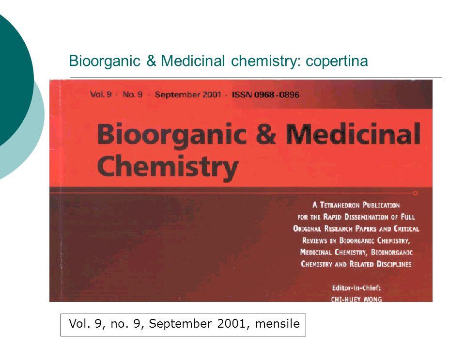 Bioorganic & Medicinal chemistry: copertina Vol. 9, no. 9, September 2001, mensile