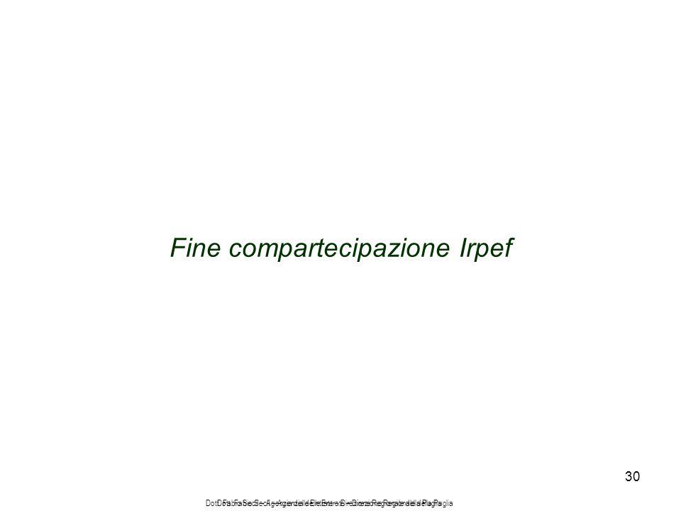 30 Fine compartecipazione Irpef Dott.