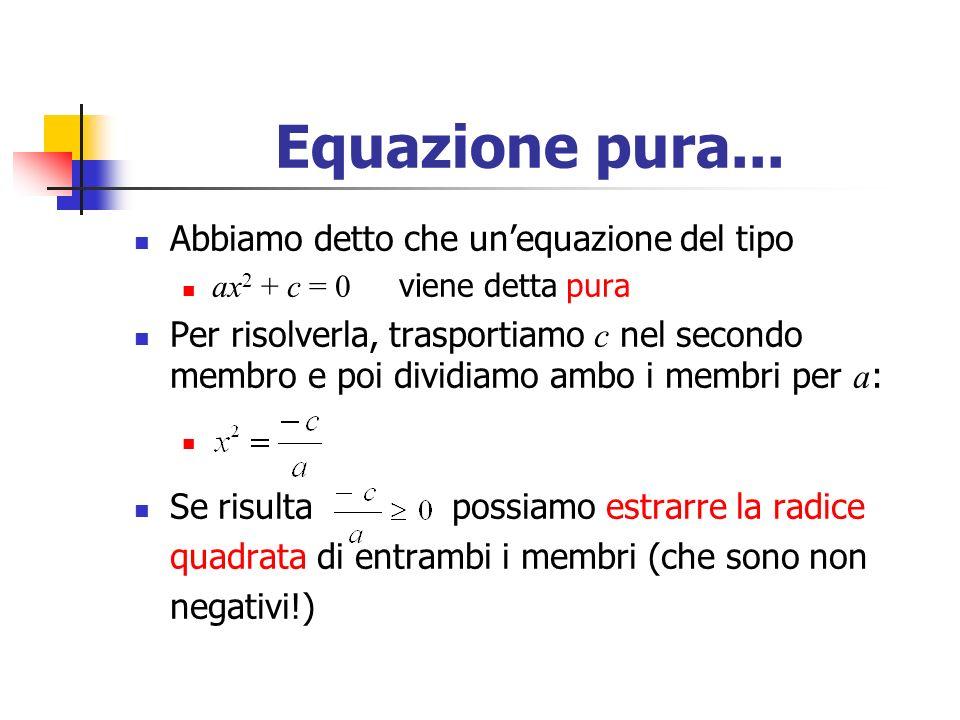 Equazione pura...