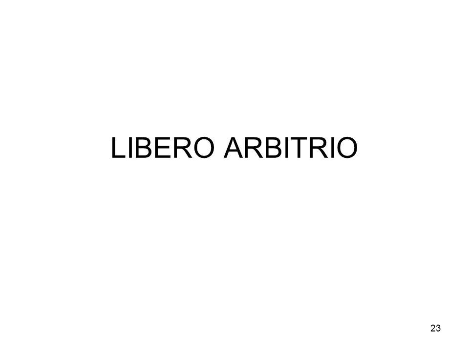 23 LIBERO ARBITRIO