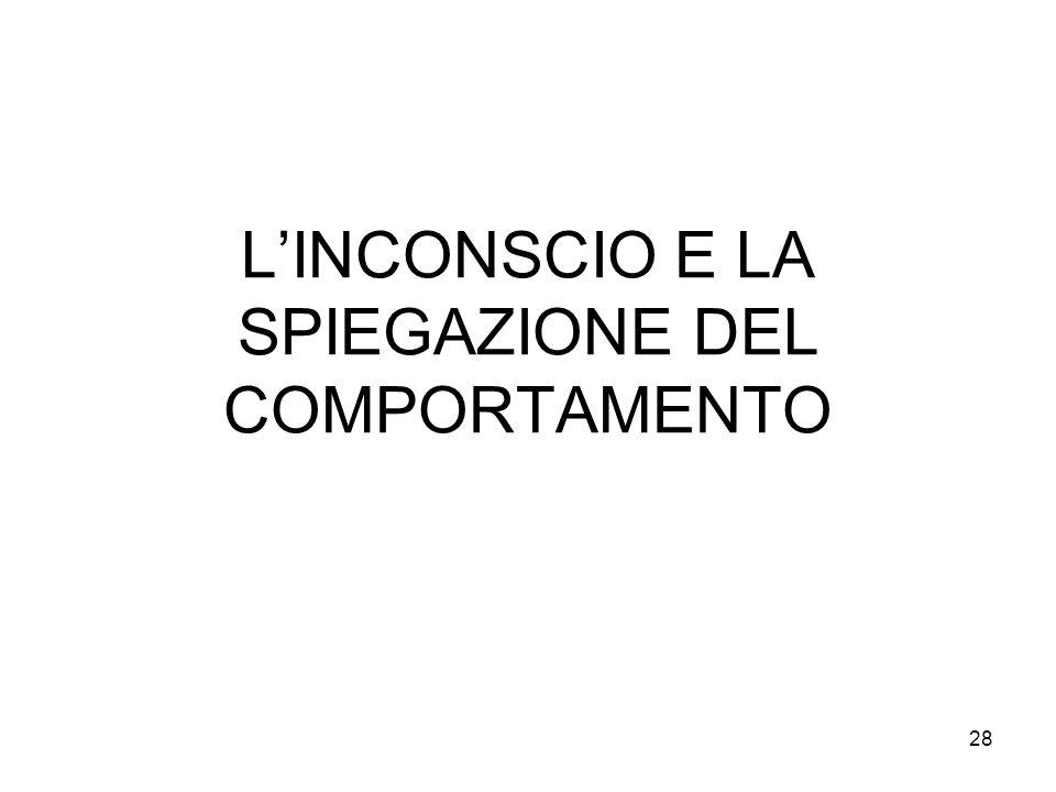 28 LINCONSCIO E LA SPIEGAZIONE DEL COMPORTAMENTO