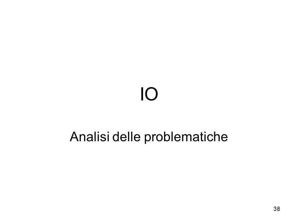 38 IO Analisi delle problematiche