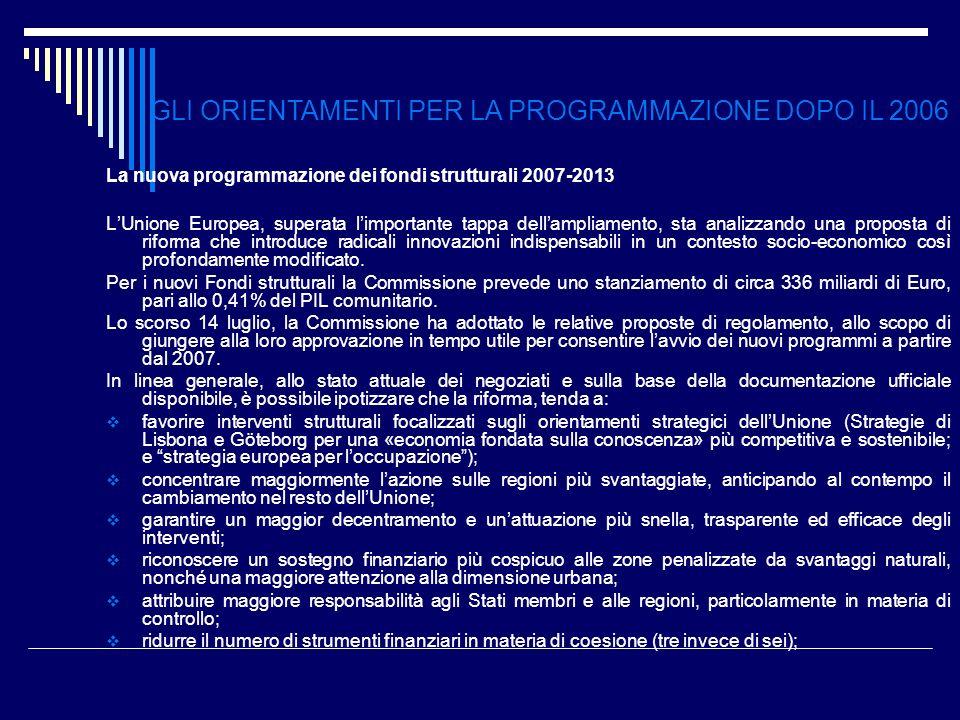 La nuova programmazione dei fondi strutturali 2007-2013 LUnione Europea, superata limportante tappa dellampliamento, sta analizzando una proposta di r