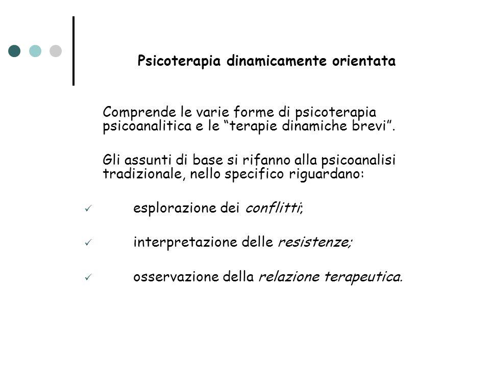 Obiettivi della psicoterapia psicodinamica (Gabbard, 2004) Migliorare le relazioni interpersonali Creazione di significato nel dialogo terapeutico Migliorare la capacità riflessiva Valutare i meccanismi di difesa